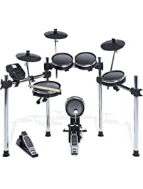 Alesis Surge Mesh Kit - Eight-Piece Electronic Drum Kit with Mesh Heads, Chrome Rack and Surge Drum Module including 40...