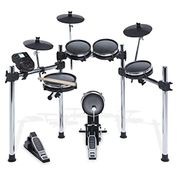 Amazon Com Alesis Surge Mesh Kit Eight Piece Electronic Drum Kit