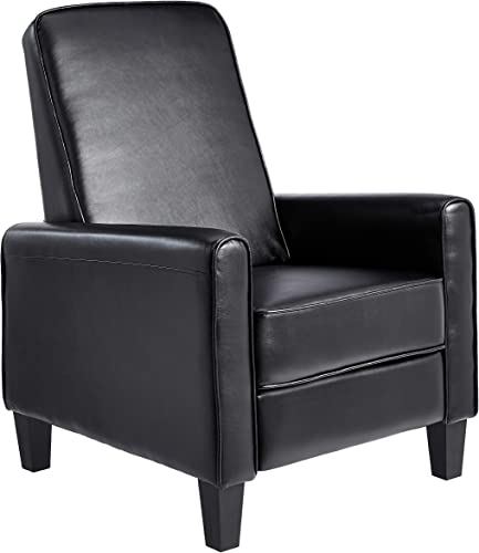 JC Home Arm Push recliner, one size, Black