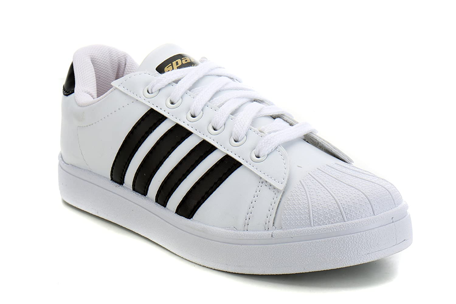 Sparx Mens White Black Sneakers-8 UK/India (42 EU) (SD0323G_WHBK0008)