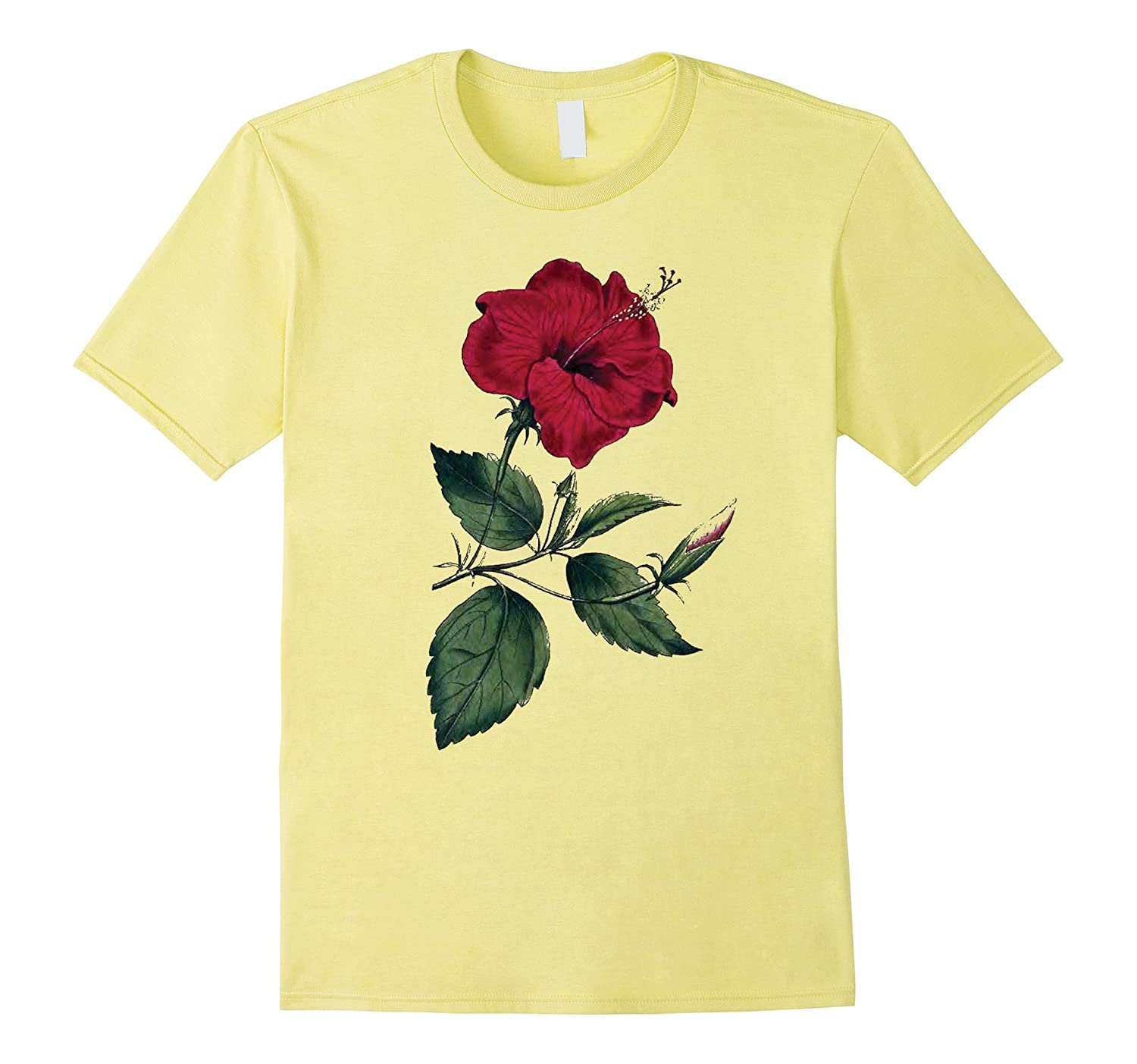 Vintage Graphic Flower T-shirt-Art