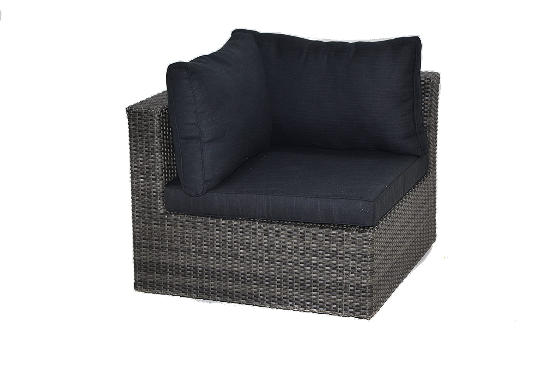 Lounge sessel rattan grau  Ploß Rattan-Ecksessel für Loungeset Swinging - Polyrattan-Eckelement ...