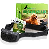 Advance No Bark Collar By Naturepets - No Harm Shock Dog Control - 7 Sensitivity Adjustable Levels for Medium Large or Small Dogs 15-120 Pound Dogs