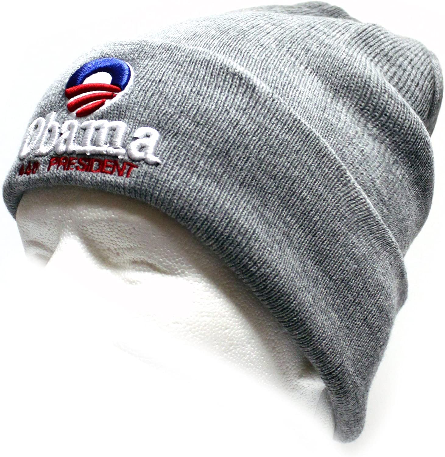 Light Grey City Hunter Skiobm Obama Ski Hat