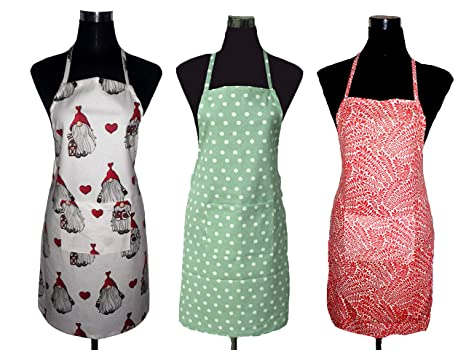 57eccc65a70 Buy APRON-100% Pure Cotton Women's Apron-Buy 1 GET 2 Free-ON UR Every  Purchase U Will Receive A Surprise: Online at Low Prices in India - Amazon. in