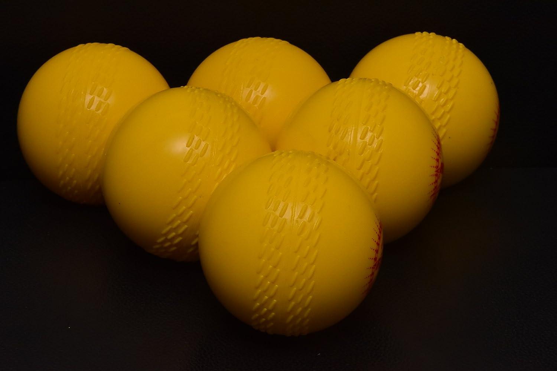 Jardín Cricket pelotas (caja de 6) bolas amarillo Affordable Sports