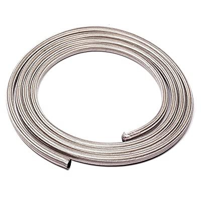 -12AN Stainless Steel Braided Fuel Line Hose Gas Hose 5FEET: Automotive