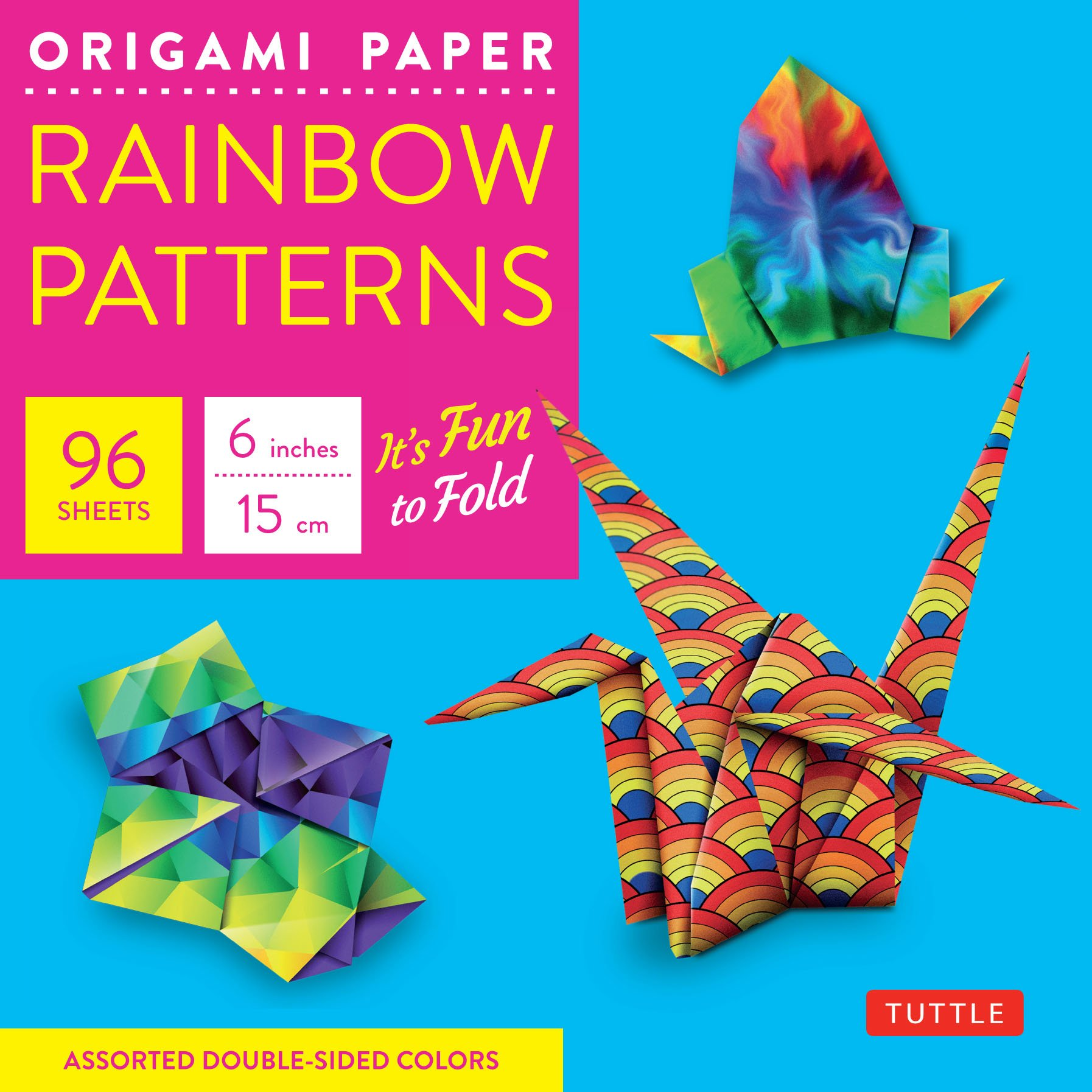 Amazon Com Origami Paper Rainbow Patterns 6 Size 96 Sheets