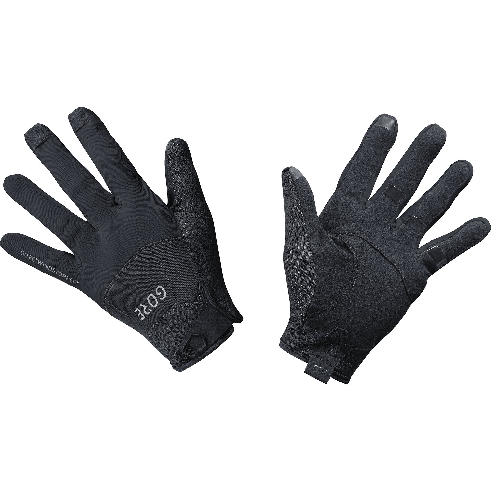 GORE WEAR Windproof Cycling Gloves, C5 Windstopper Gloves, Size: M, Color: Black, 100125