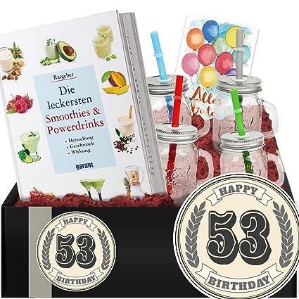 Geschenkidee 53 Geburtstag Smoothie Kit Geschenke Geburtstag