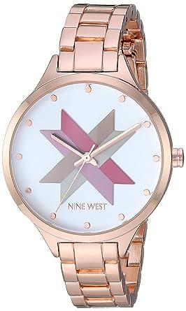 Buy Nine West Women S Nw 2250svrg Rose Gold Tone Bracelet Watch