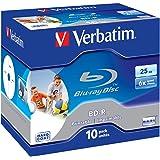 Verbatim 403121 - Discos Blu-Ray vírgenes (10 unidades, 25 GB)