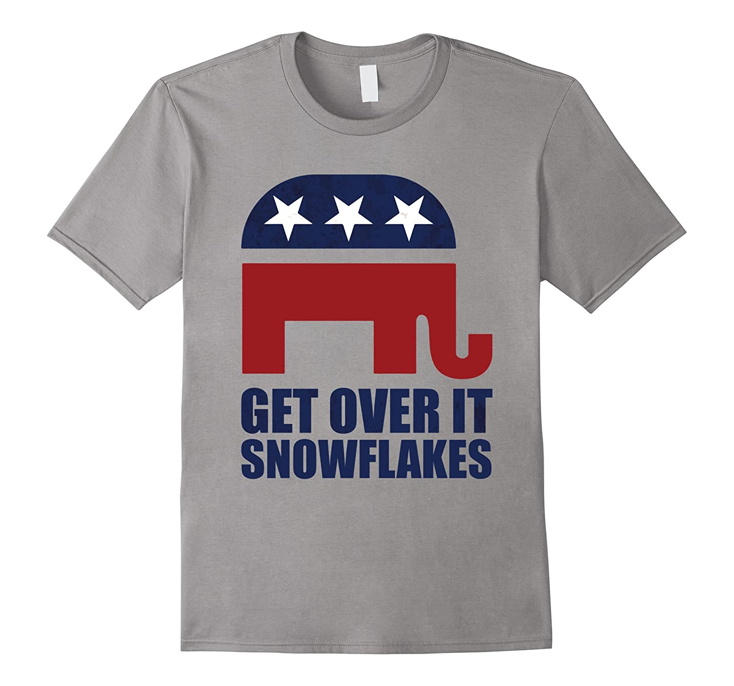 Get Over It Snowflakes 2016 Republican Trump Victory T-Shirt-CD