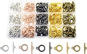 GR8 for Leather /& Kumihimo Projects...! 12 Sets of Golden Quality Round Toggle Clasps
