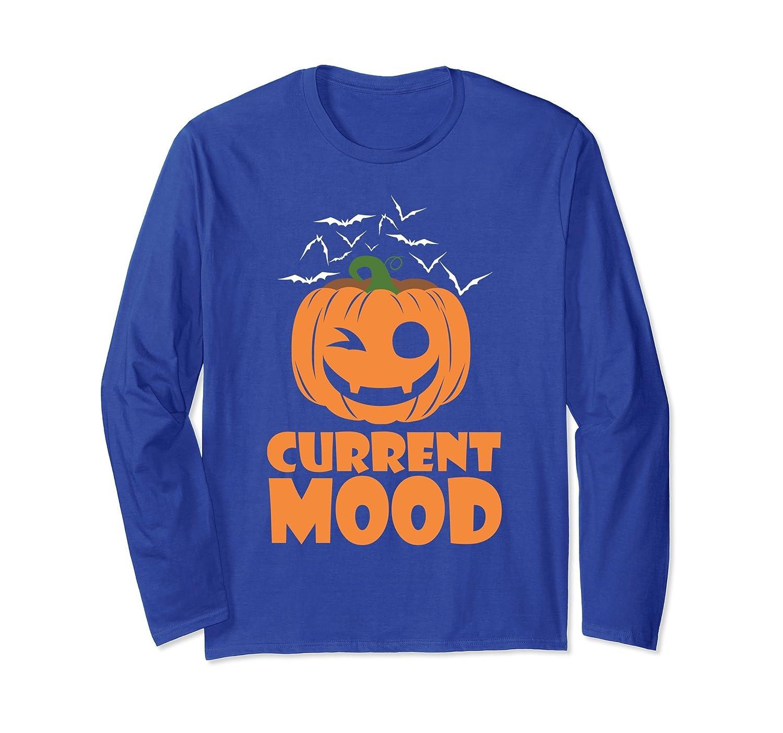Current Mood Pumpkin Halloween Party Long Sleeve T-shirt-Rose