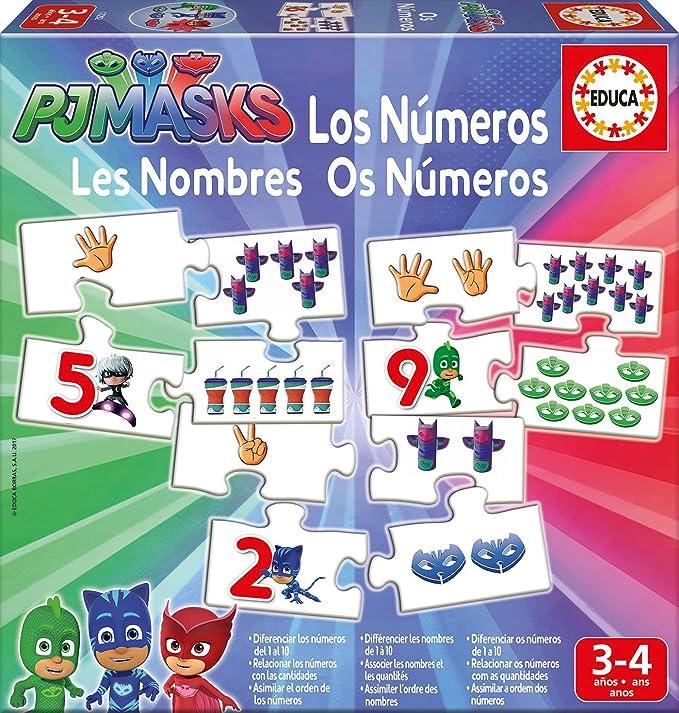 PJ Masks Dibujos Animados y cómic Aprendo los números, 3-4 años ...