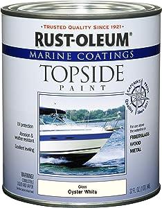 Rust-Oleum 207001 Marine Coatings Topside Paint, Quart, Oyster White