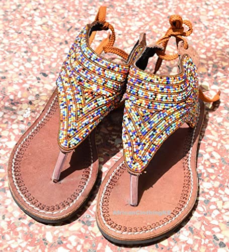 ac014c6e1b97 Amazon.com  Handmade Beaded Reef Sandy Womens Sandals
