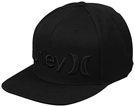 Amazon.com  Hurley One and Only Snapback Hat - Black  Clothing adbe88fc8fe