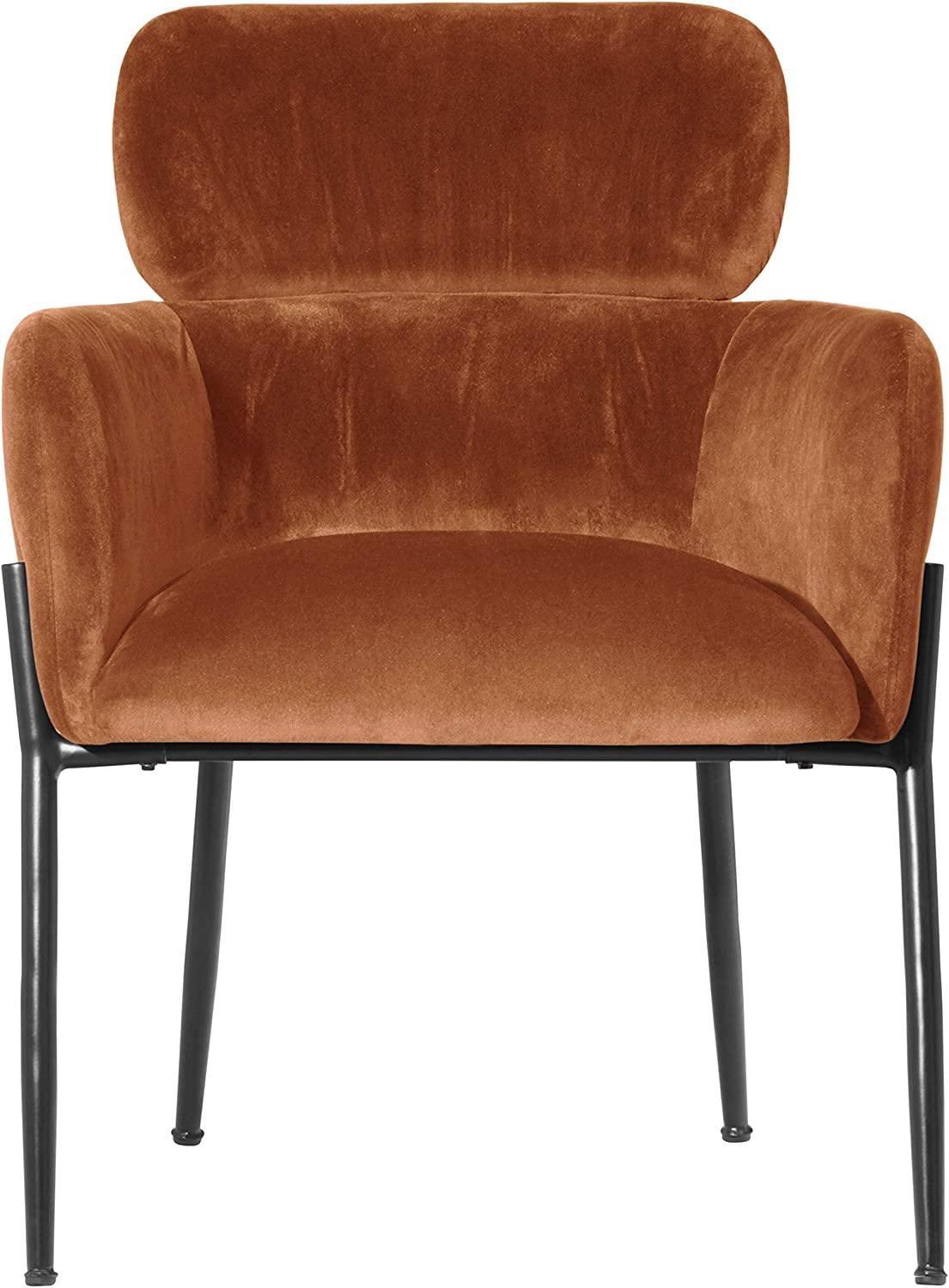 Rivet Modern Dining Room Chair 32 Inch Height, Orange