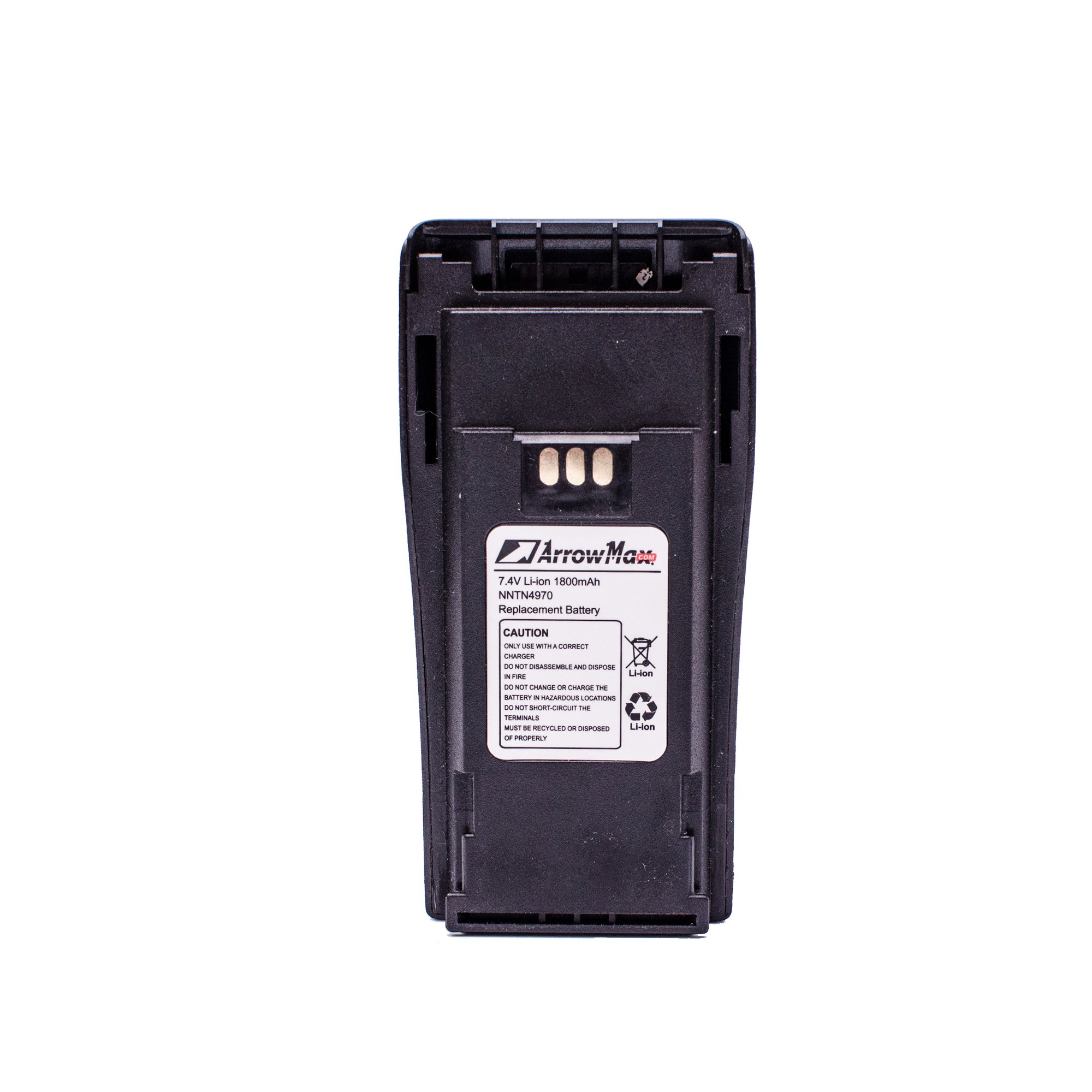 ArrowMax AMCL4970-1800-D NNTN4970 Replacement Li-ion 1800mAh Slim Battery for Motorola CP200 CP200XLS CP200D