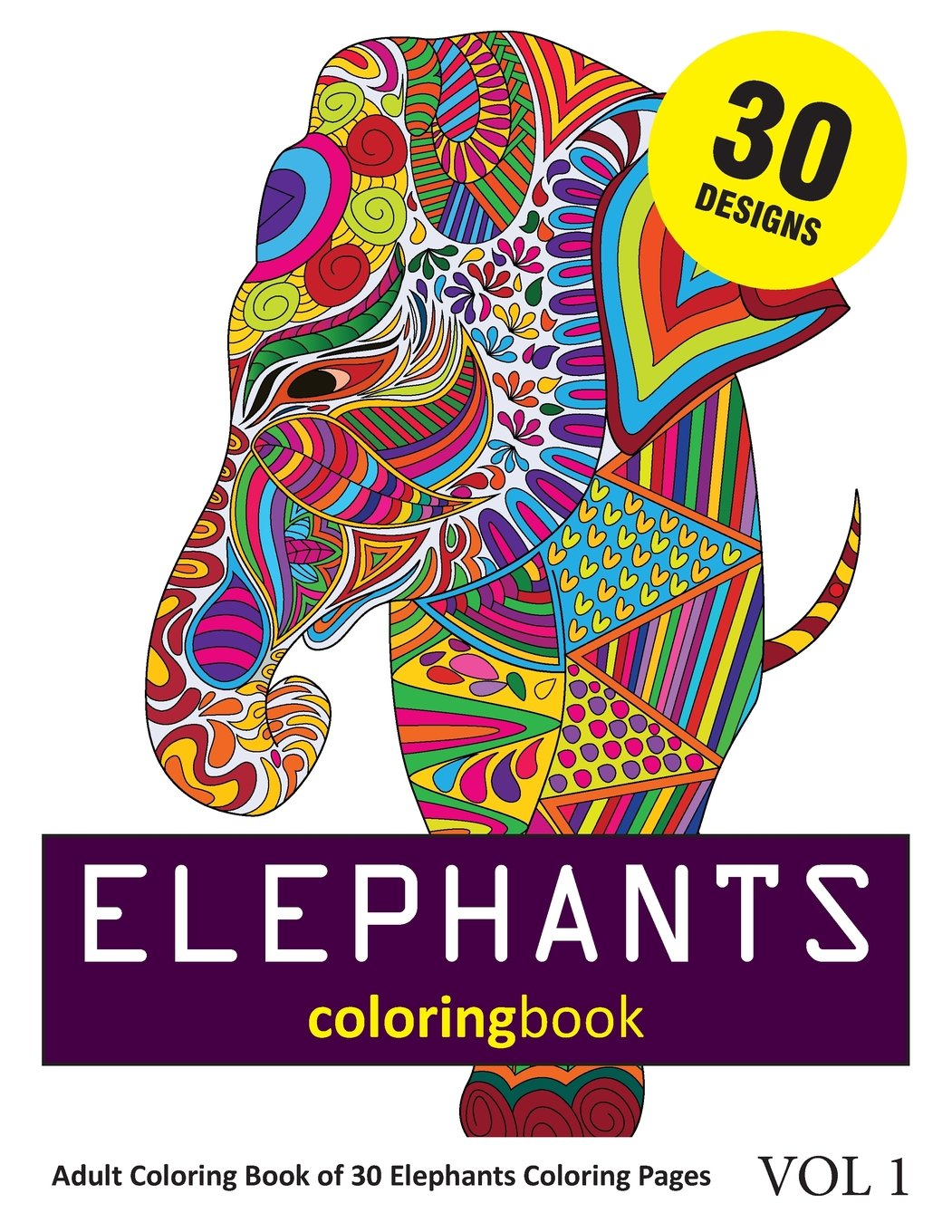 Amazon Com Elephants Coloring Book 30 Coloring Pages Of Elephant