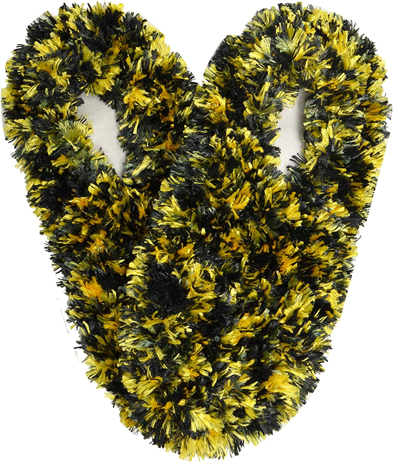 Fuzzy Footies Women's One Size Slip Resistant Polyester Slipper Socks, Black/Yellow