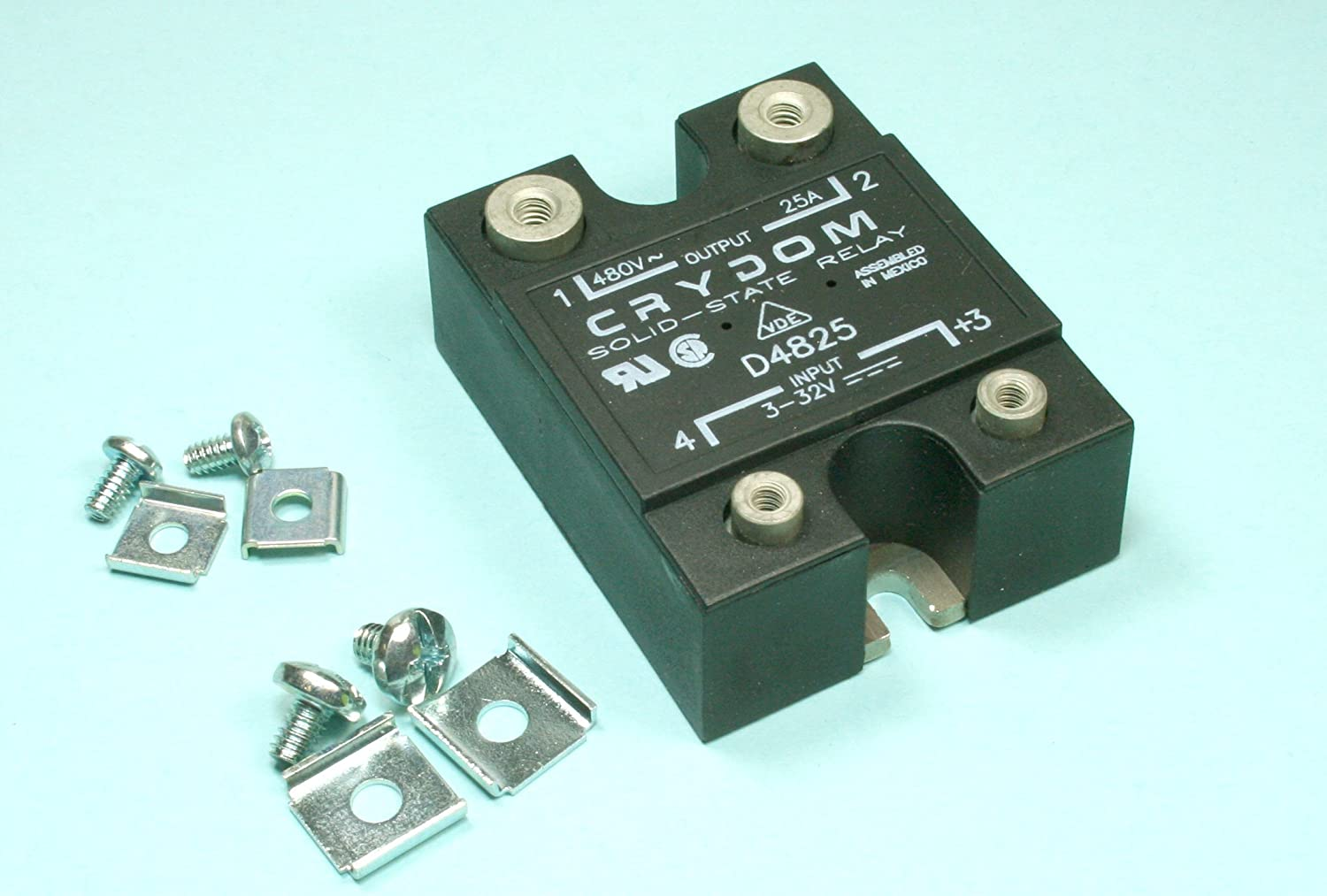 Rr 23 1pc Crydom Ssr Relay D4825 25 Amps 480vac With Hardware Solid State New Basic Of Industrial Scientific