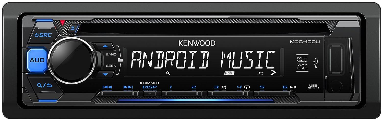 Kenwood Car Stereo CD Receiver with Blue Key illumination KDC-100UB