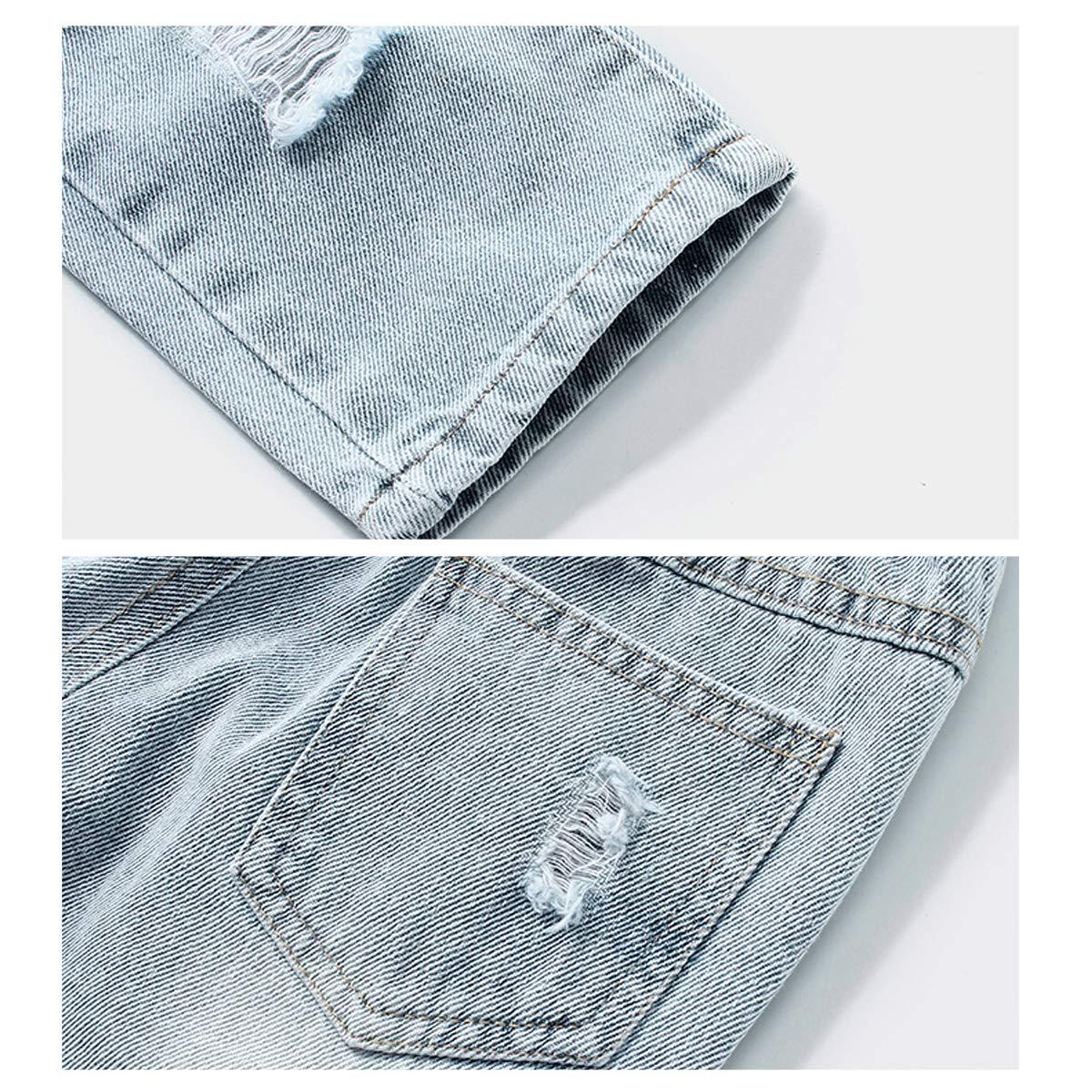 LAPLBEKE Bambino Jeans Bimbo Ragazzi Denim Strappati Pantaloni Stretch Pantalone Primavera Autunno Casual