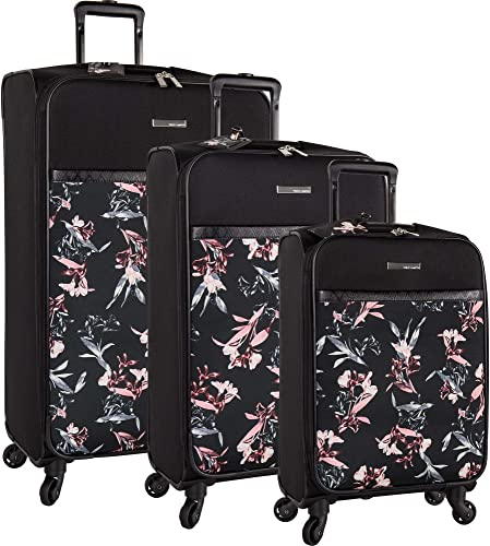 Vince Camuto 3 Piece Expandable Spinner Luggage Set, Black Lillie, One Size