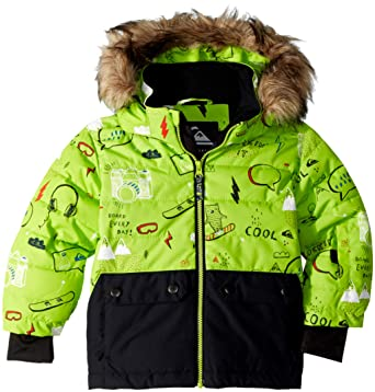 17e5fd262 Amazon.com  Quiksilver Boys Edgy Kids 10k Grow System Snow Jacket ...