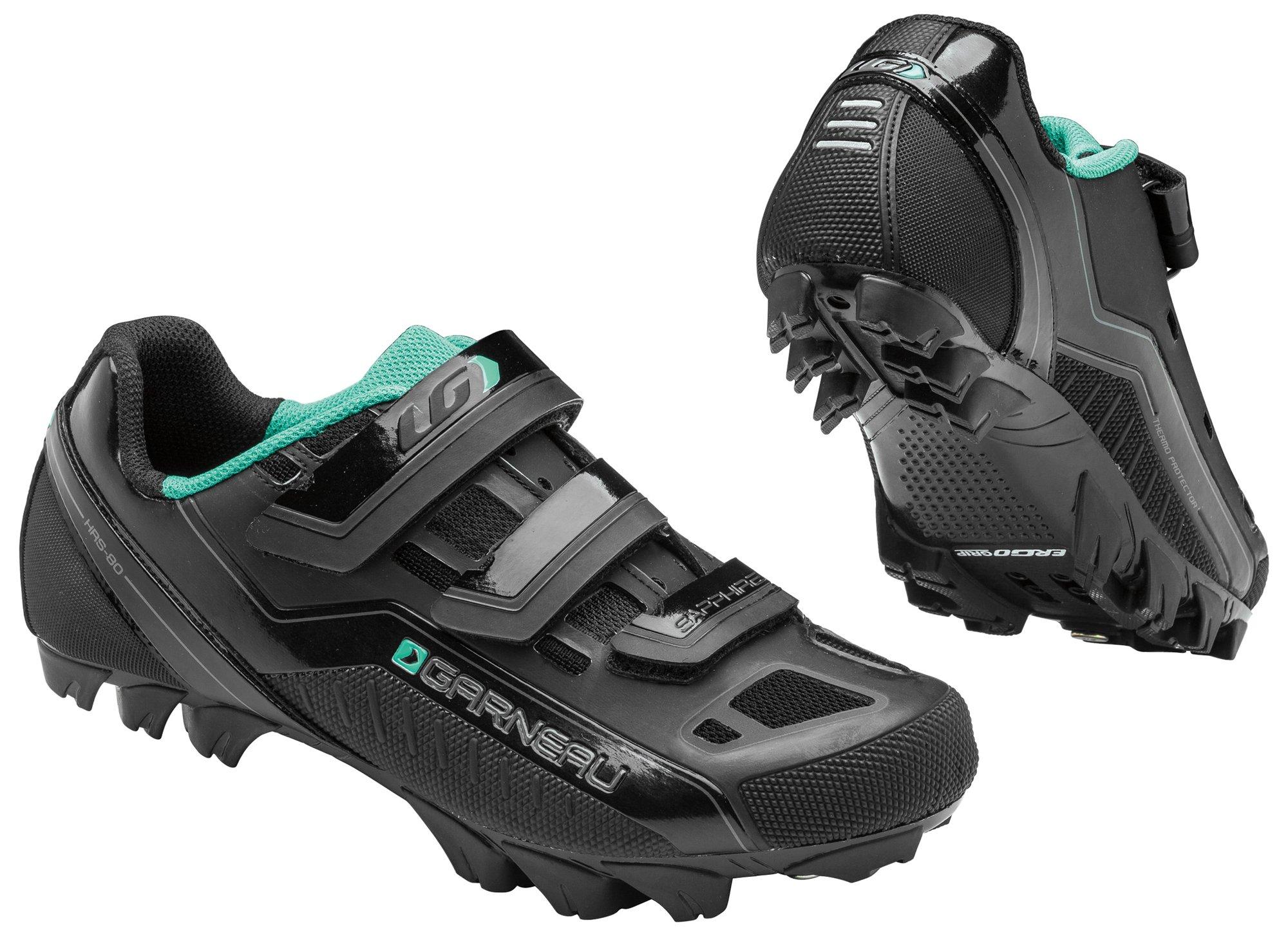 Louis Garneau - Women's Sapphire Mountain Bike Shoes, Black, 37
