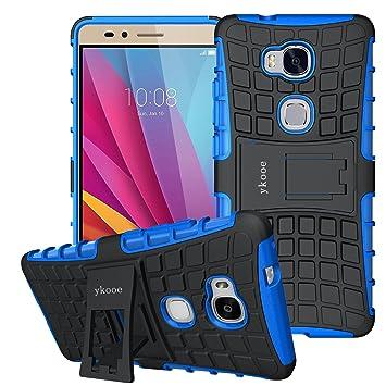 ykooe Honor 5 x móvil, Soporte de Silicona Dual Layer Funda ...