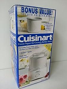 Cuisinart Frozen Yogurt Ice Cream & Sorbet Maker CIM-20WEBPC