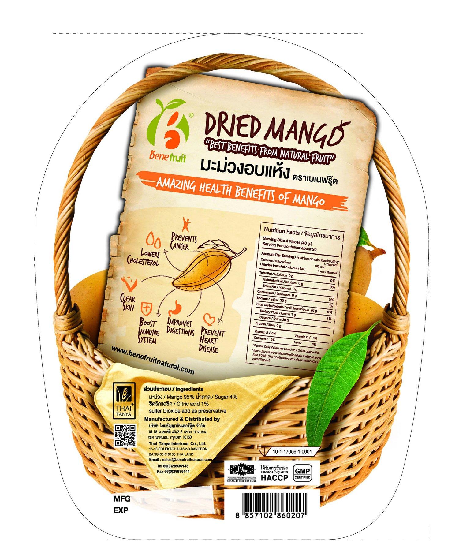 Benefruit Dried Mango 3.5 oz.