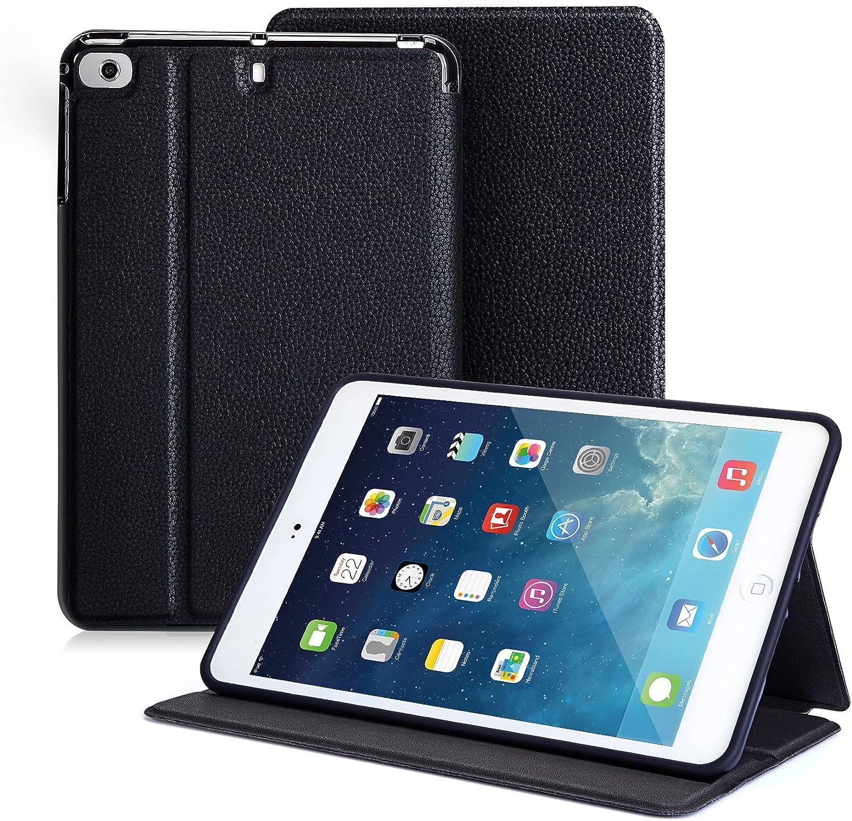 Miroddi iPad Mini Case for iPad Mini 5 2019/ Mini 4, Mini 1 2 3, Slim Stand Protective Folio Case Smart Cover with Auto Sleep/Wake, Black