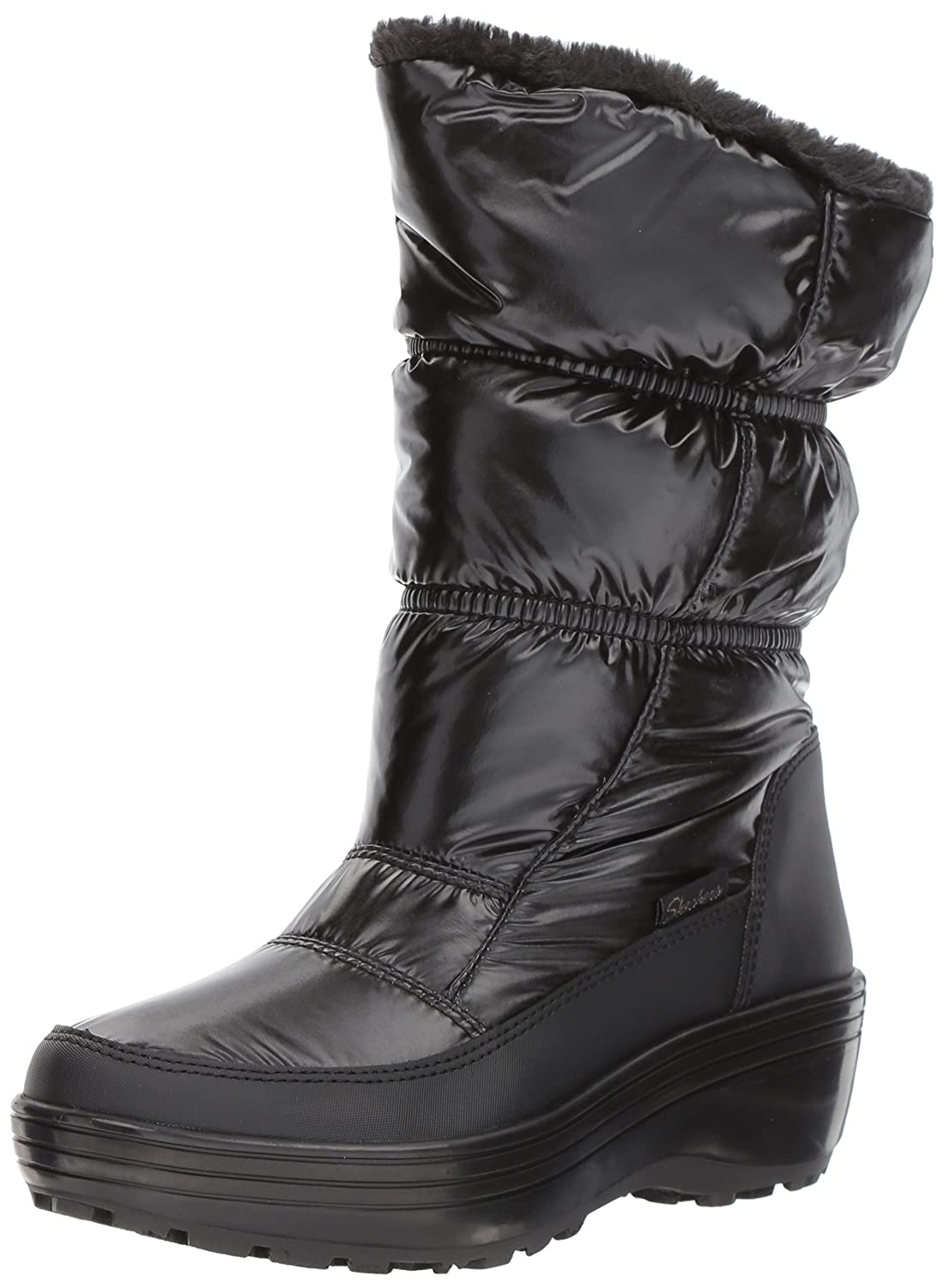 Skechers Women's Alaska-Tall Quilted Snow Boot B06XH4Z4KS 6 B(M) US|Black