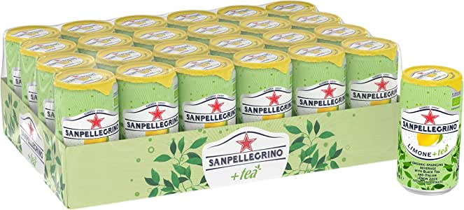Sanpellegrino Sparkling Limone (Lemon) plus Tea, 24 x 250 ml