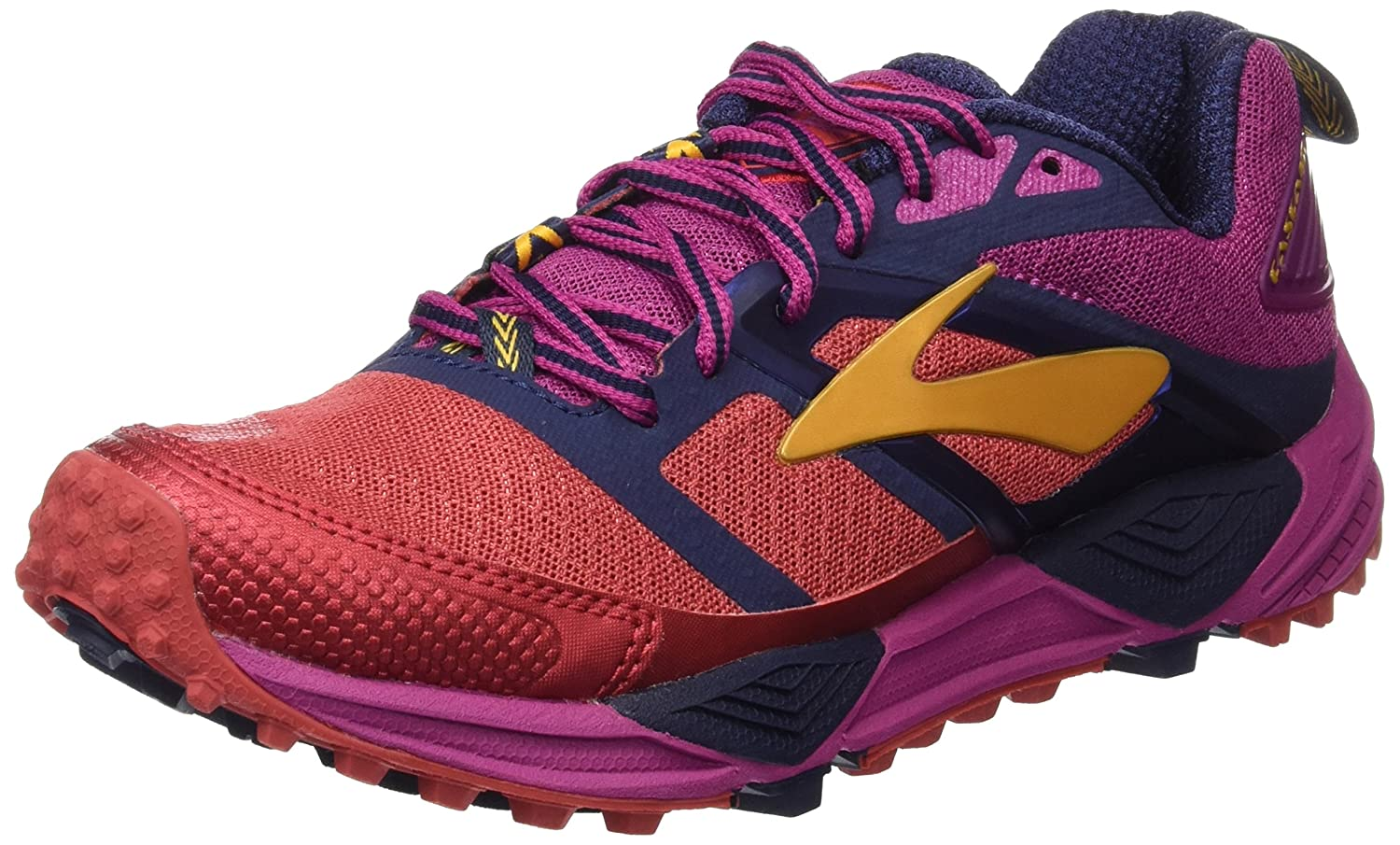 Amazon.com | Brooks Womens Cascadia 12 (9, Poppy Red/Peacoat/Baton Rouge) | Road Running