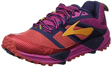Brooks Womens Cascadia 12 (9, Poppy Red/Peacoat/Baton Rouge)