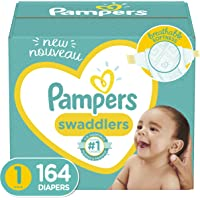 Diapers Newborn/ Size 1 (8-14 Lb), 164Count - Pampers Swaddlers Disposable Baby Diapers, Enormous Pack