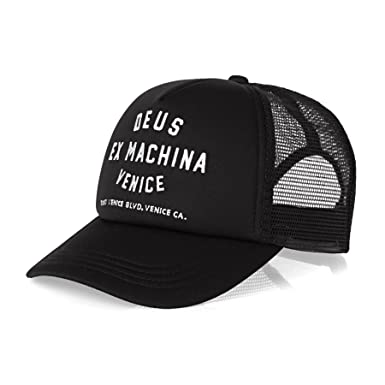 dd900115a24 Deus Ex Machina Venice Address Trucker Cap - Black One Size  Amazon.co.uk   Clothing