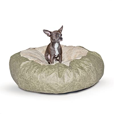 K&H PET PRODUCTS K&H Manufacturing Self Warming Distress Cuddle Ball Bed