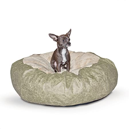 K H Manufacturing Self Warming Distress Cuddle Ball Bed for Dogs
