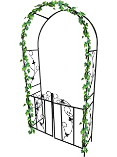 Dirty Pro Tools™ Metal Garden Arch With Gate Archway For Climbing Plants  Ornament