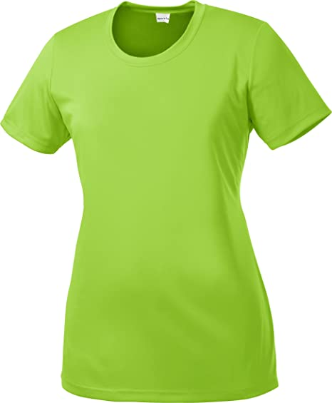 879ed35e13257b Amazon.com  Sport-Tek - Ladies Competitor Performance T-Shirt. LST350 -  Small - Lime Shock  Clothing