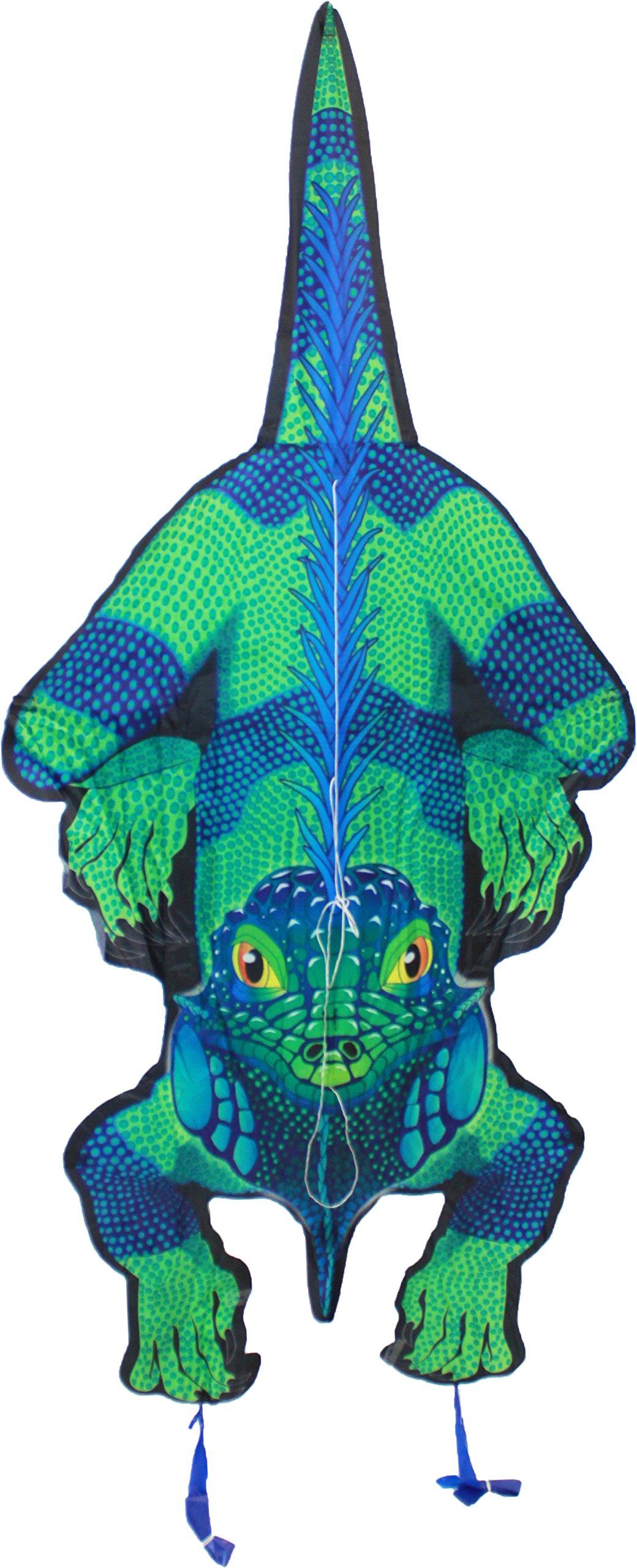 WindNSun RainForest Iguana Rip-Stop Nylon Kite, 59'' Tall