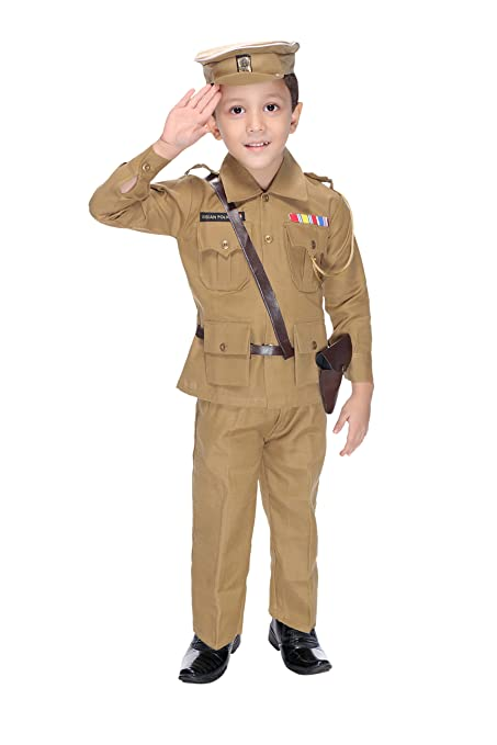 d148b82dd Buy Smuktar garments Police Costume for Kids (6 to 7 Years) Online at Low  Prices in India - Amazon.in