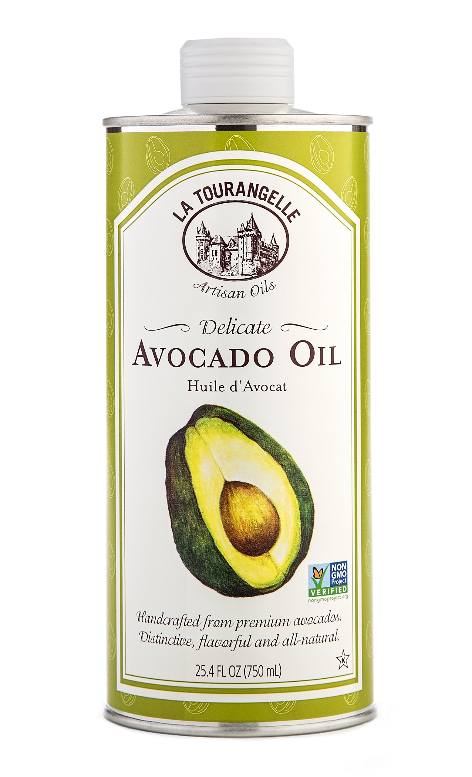 La Tourangelle Avocado Oil 25.4 Fl. Oz., All-Natural, Artisanal, Great for Salads, Fruit, Fish or Vegetables, Great Buttery Flavor